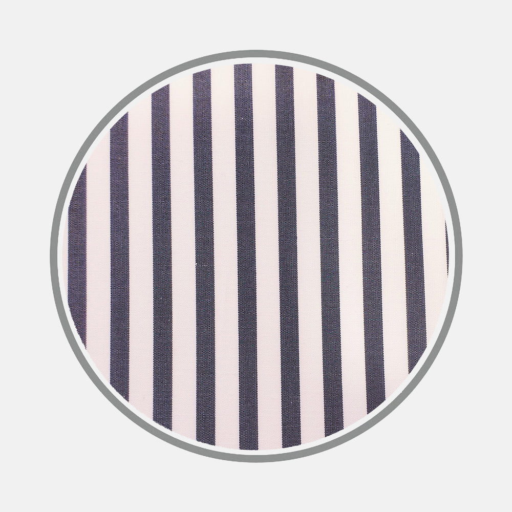 Navy Candy Stripe Cotton Fabric