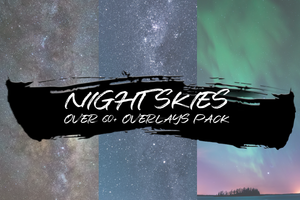 NIGHT SKIES - OVER 30+ OVERLAYS PACK - Astropanel.it