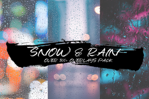 SNOW & RAIN - OVER 300+ OVERLAYS PACK - Astropanel.it