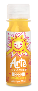 Arte Wellness DEFEND Immunity Adaptogen Blend: Immunity = Turmeric + Ginger + Magnesium + Black Peppers + Zinc with Adaptogens (6 Bottles per Case)