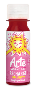 Arte Wellness RECHARGE Immunity Adaptogen Blend: Immunity = Ginger + Ginseng + Elderberry + Turmeric + Magnesium with Adaptogens (6 Bottles per Case)