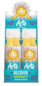 Arte Wellness RECOVER Immunity Adaptogen Blend: Immunity = Ginger + Lion's Mane + Zinc + Turmeric + Magnesium with Adaptogens (6 Bottles per Case)