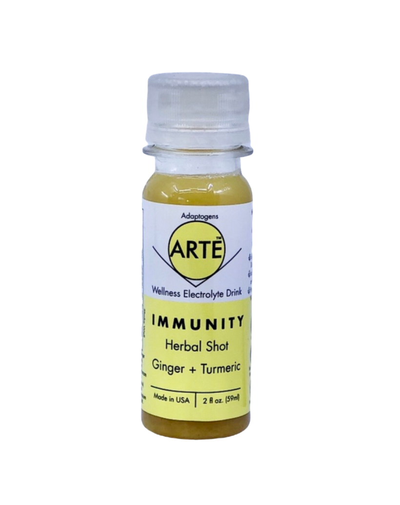 Immunity Shot: Immunity = Ginger + Lemon + Turmeric with Adaptogens (Pack of 12)