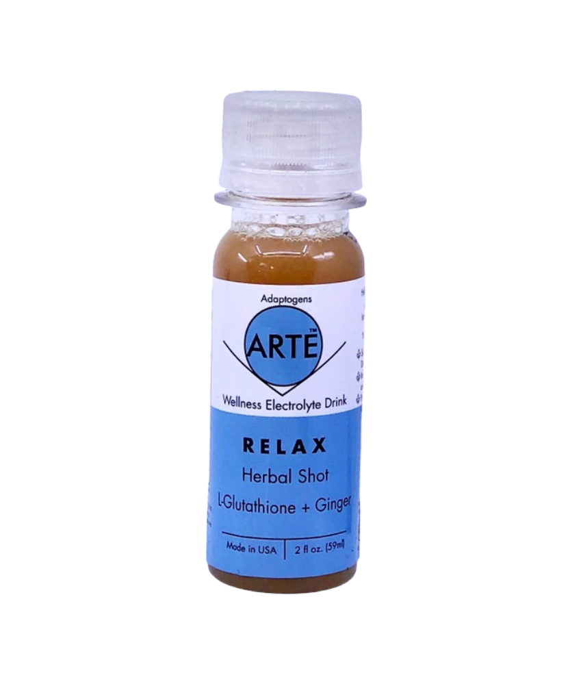Arte Immunity Shot / Beauty Shot = Ginseng + Ginger +Turmeric with Adaptogens (Pack of 12)