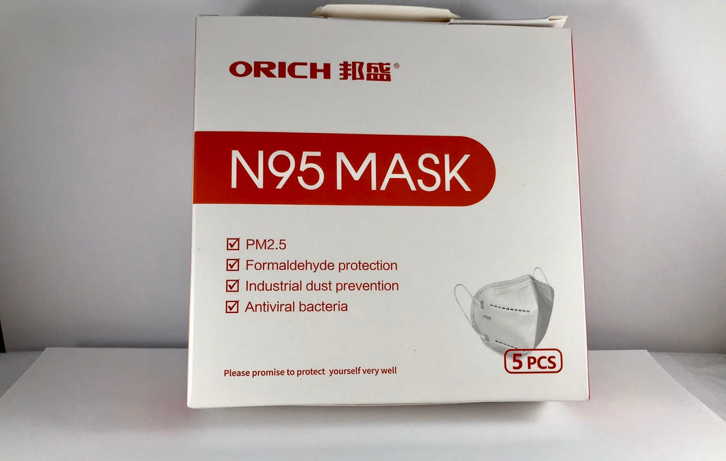 N95 Mask Ready to Ship within 3 business days from US warehouse: consists of non-woven fabric, filter cotton, melt blown fabric, adjustable nose clip, earloop and so on. (5 masks per case)