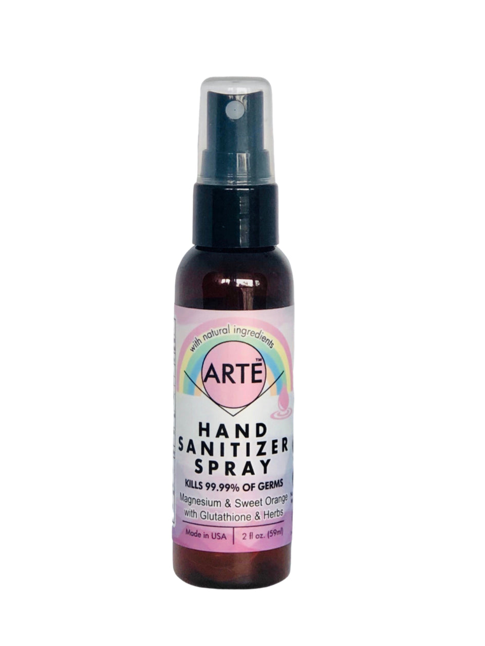 Arte Wellness Hand Sanitizer with Magnesium + Glutathione + Ashwagandha - all made in sunshine California, USA!!