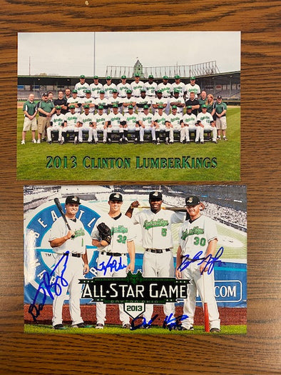 Signed 2013 Clinton LumberKings All Star Photo Set