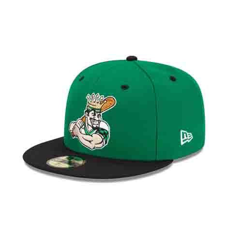 Clinton LumberKings 59Fifty Green Louie Logo Cap