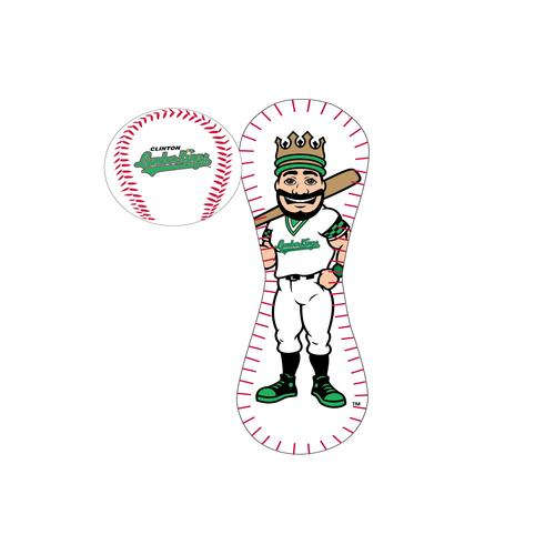 Clinton LumberKings Logo Baseball