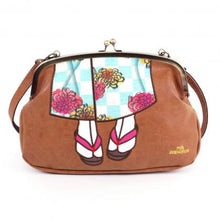 Load image into Gallery viewer, Mis Zapatos / Kimono Gusset 3Way Shoulder Bag B-6507