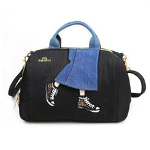 Load image into Gallery viewer, Mis Zapatos / Denim Nylon Wallet Pochette B-6839