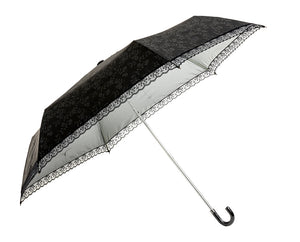 Waterfront / ALL WEATHER Floral Lace Pattern Folding Umbrella