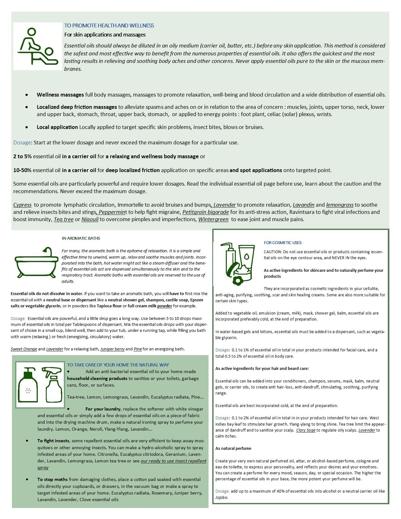 how to use essential oils at a glance page 2 eoil.co.za