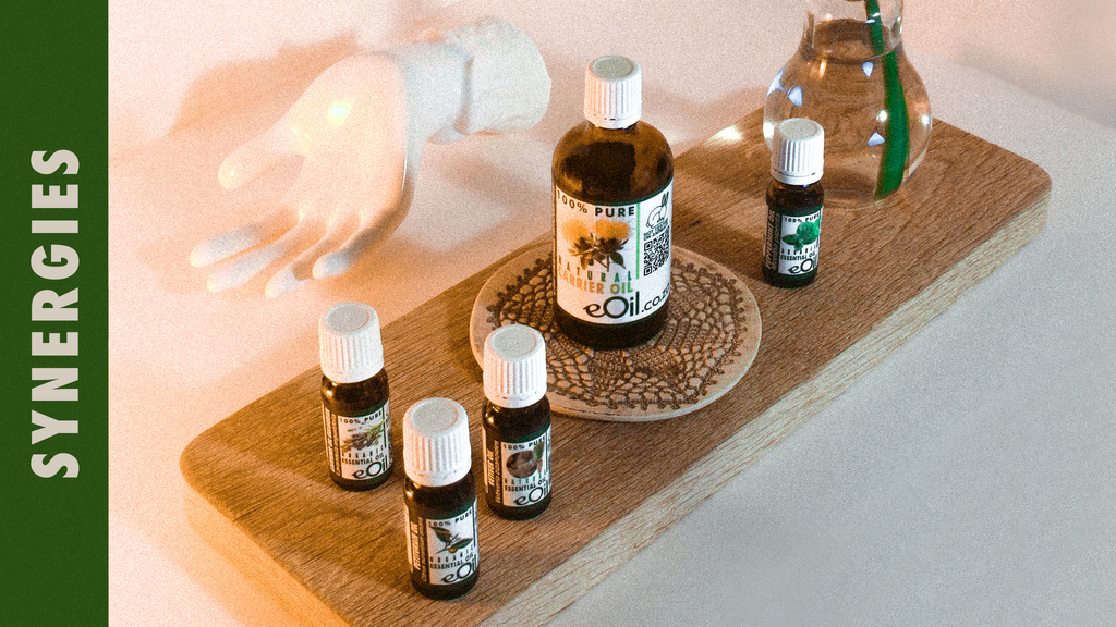 our synergies essential oils and carriers oils together increase their powers. 100 % natural organic products from eoil.co.za