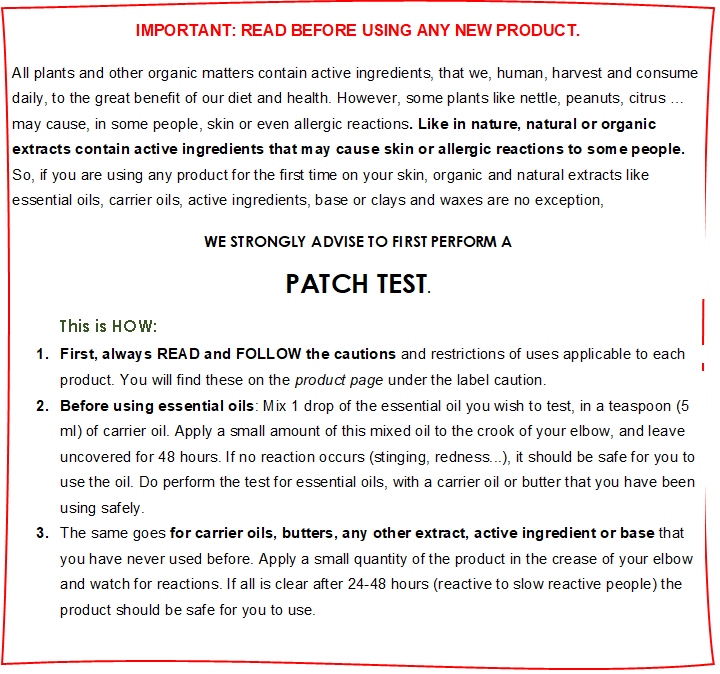 Skin patch test eoil website instructions