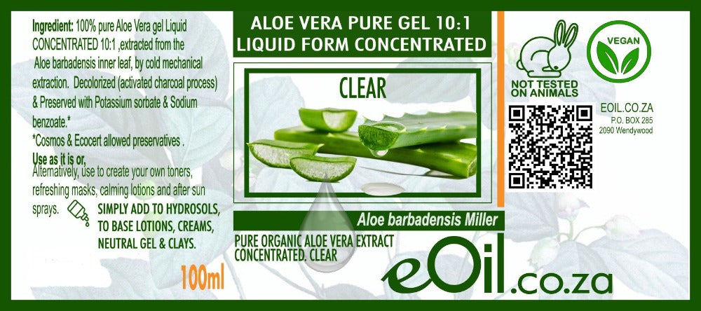 aloe vera pure gel 10:1 concentrated liquid form eoil.co.za