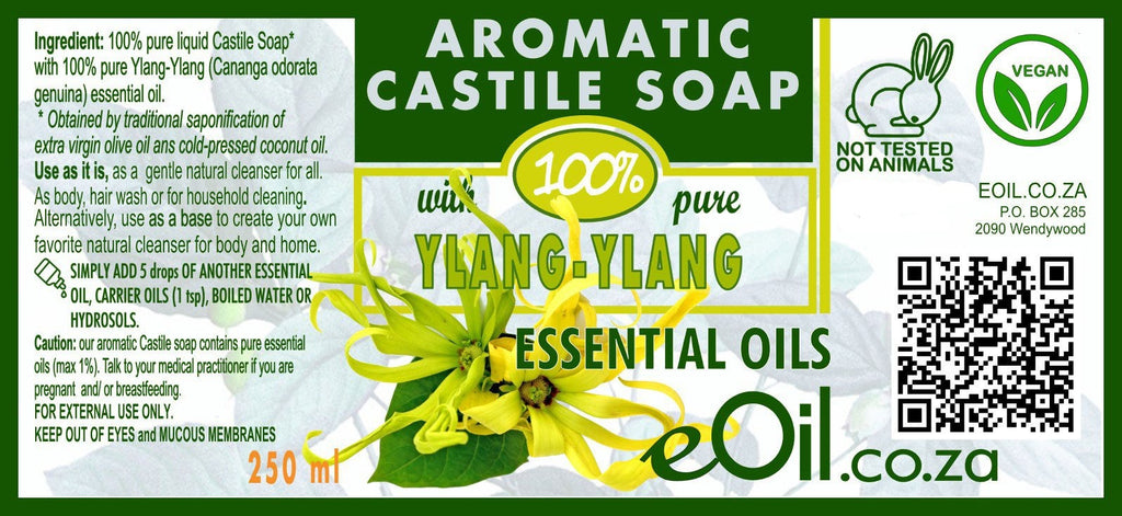 Castile soap Ylang Ylang essential oil liquid natural base undiluted 250 ml