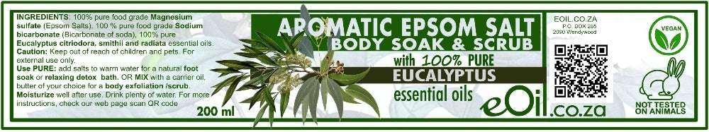 Epsom Salt Eucalyptus Aromatic Body Soak & Scrub 200 ml