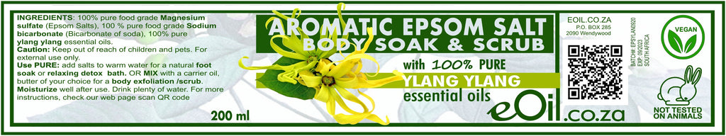 Epsom Salt Ylang Ylang Aromatic Body Soak & Scrub 200 ml