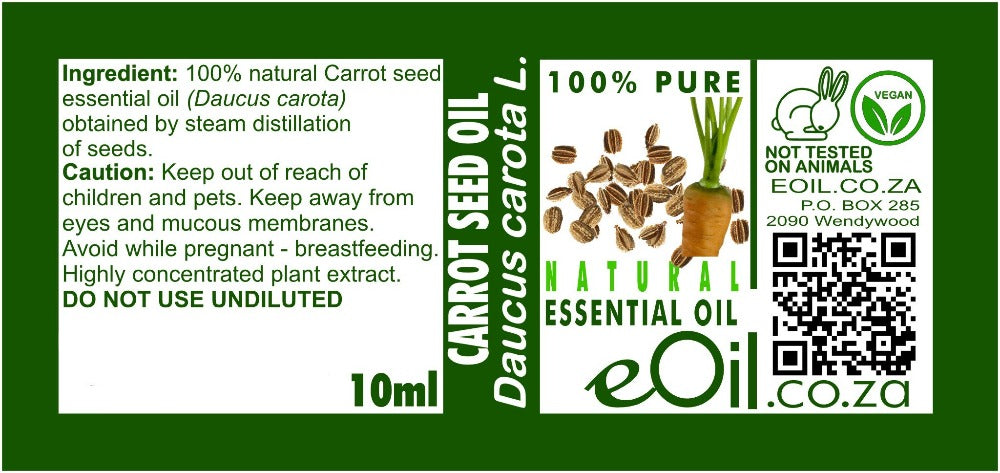 CARROT SEED NATURAL ESSENTIAL OIL (Daucus carota) 10 ml - eOil.co.za