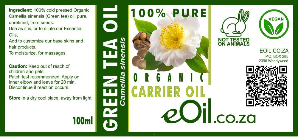 eOil.co.za Camellia oil excellent for skin, hair, collagen, irritation redness moisturizing hydration elasticity