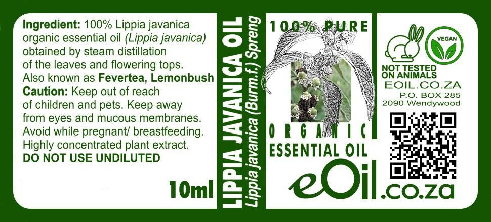 Lippia Javanica essential oil organic (Cape verbena) 10 ml