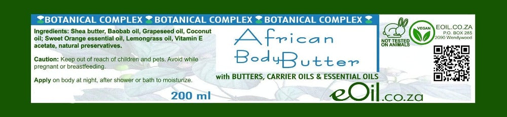 AFRICAN BODY BUTTER BOTANICAL COMPLEX 200 ml - eOil.co.za