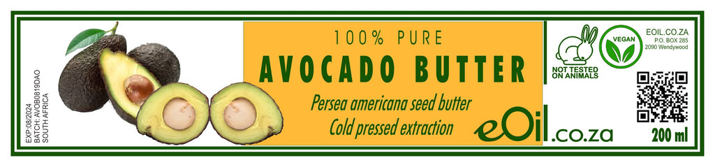 AVOCADO BUTTER 100 % PURE  (Persea americana) 200 ml - eOil.co.za