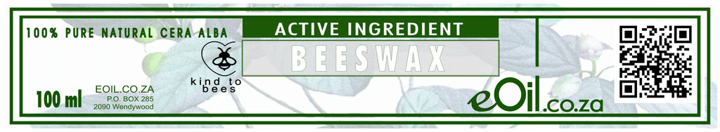 BEESWAX 100 % NATURAL ACTIVE INGREDIENT (Cera alba) 100 ml - eOil.co.za