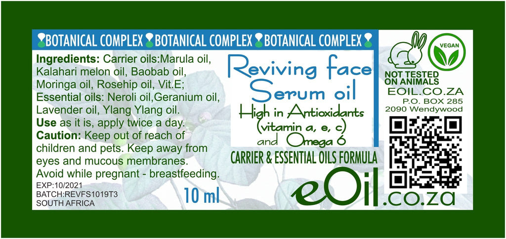 REVIVING FACE SERUM OIL BODY OIL - BOTANICAL COMPLEX 10 ml - eOil.co.za