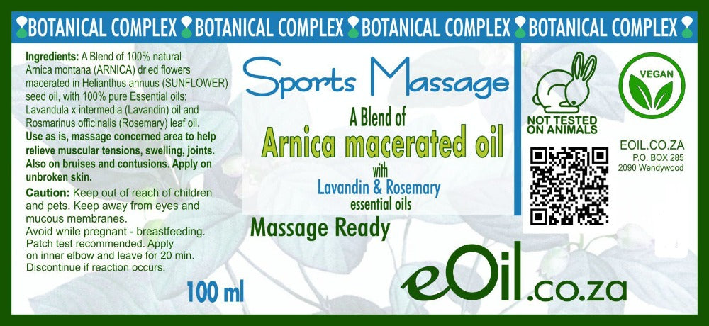Arnica macerated natural Body oil - botanical complex oil sports massage 100 ml
