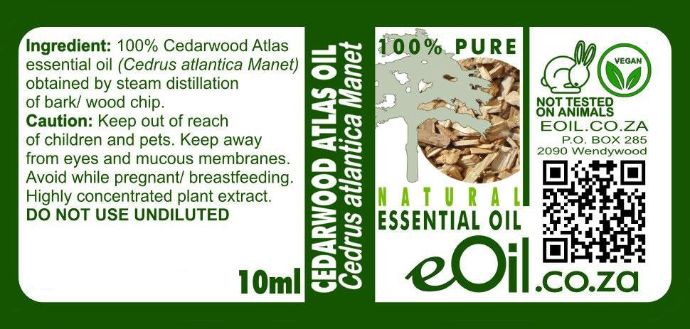 Cedarwood essential oil natural 10 ml