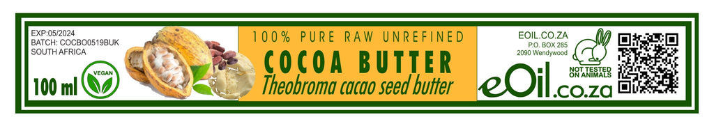 COCOA BUTTER 100 % PURE RAW UNREFINED (Theobroma cacao) 100 ml - eOil.co.za