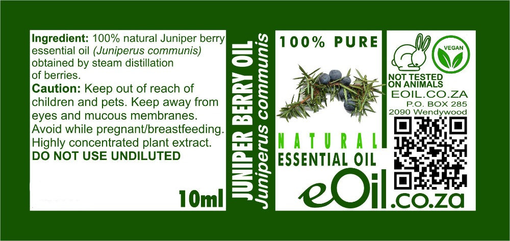 JUNIPER BERRY NATURAL ESSENTIAL OIL (Juniperus communis) 10 ml - eOil.co.za