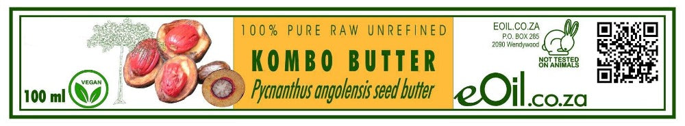 KOMBO BUTTER PURE RAW UNREFINED (Pycnanthus angolensis) 100 ml - eOil.co.za