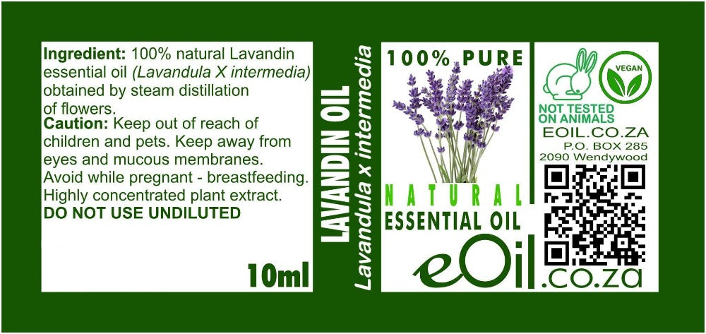 LAVANDIN NATURAL ESSENTIAL OIL (Lavandula X intermedia) 10 ml - eOil.co.za