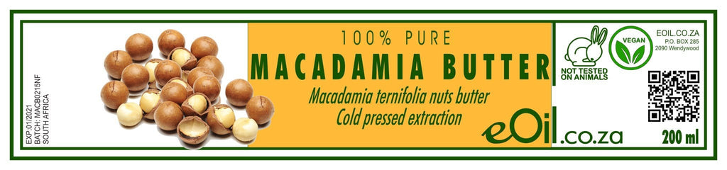 MACADAMIA NUTS BUTTER PURE (Macadamia ternifolia) 200 ml - eOil.co.za