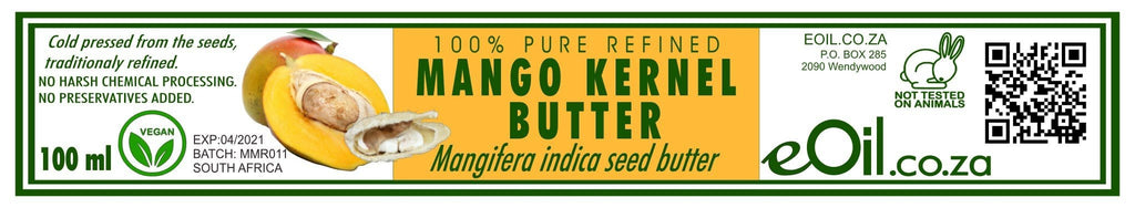 MANGO KERNEL BUTTER PURE REFINED (Mangifera indica) 100 ml - eOil.co.za