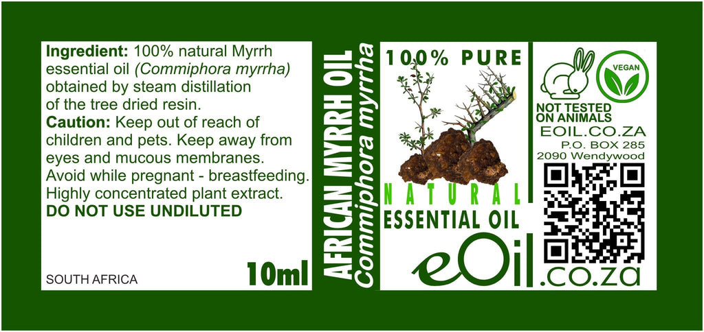 AFRICAN MYRRH NATURAL ESSENTIAL OIL (Commiphora myrrha) 10 ml - eOil.co.za
