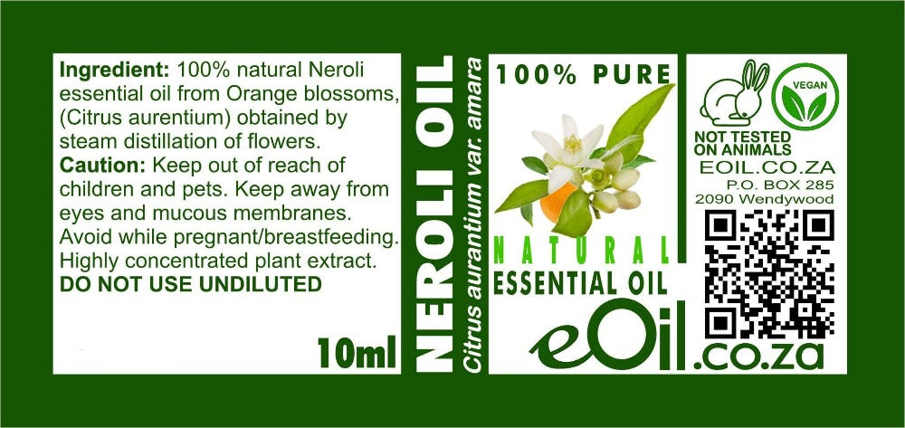 NEROLI NATURAL ESSENTIAL OIL (Citrus aurentium) 10 ml - eOil.co.za