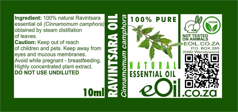 RAVINTSARA NATURAL ESSENTIAL OIL (Cinnamomum camphora) 10 ml - eOil.co.za