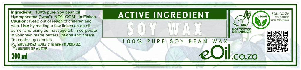 SOY WAX FLAKES PURE NON OGM ACTIVE INGREDIENT 200 ml - eOil.co.za