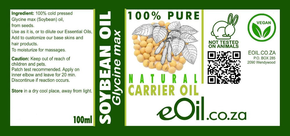 SOYBEAN NATURAL CARRIER OIL (Glycine max) 100 ml - eOil.co.za
