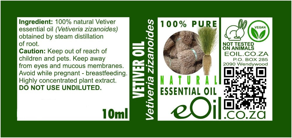 VETIVER NATURAL ESSENTIAL OIL (Vetiveria zizanoides) 10 ml - eOil.co.za