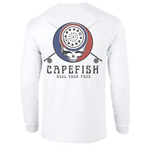 Capefish Reel Your Face Long Sleeve Tee