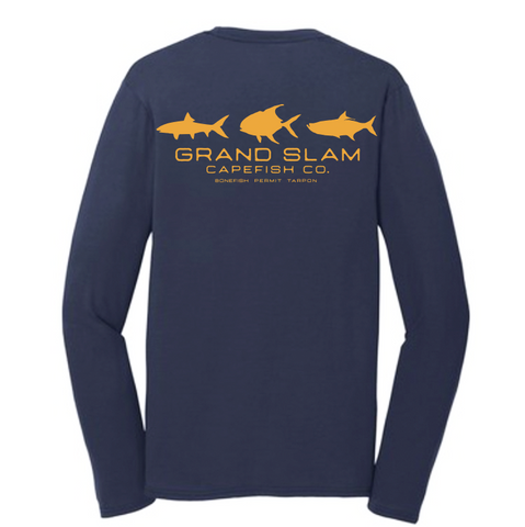 Capefish Grand Slam Long Sleeve Tri Blend Tee