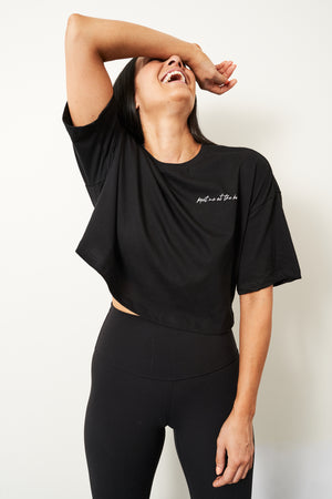 """Meet me at the barre"" cropped tee - Women's"