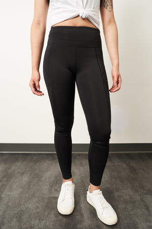 b.cycle Perforated Leggings (Black, bottom of leg)