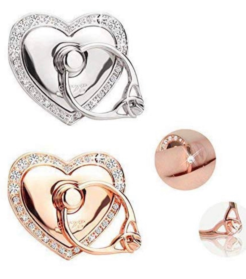 Heart Bling Cellphone Ring Holder