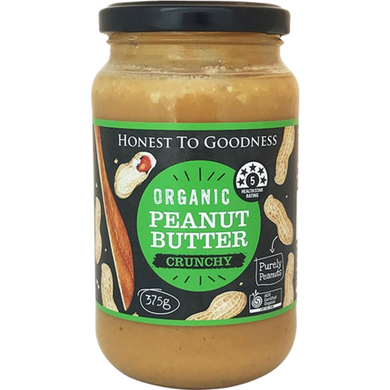 Honest To Goodness Peanut Butter Organic Crunchy 375g